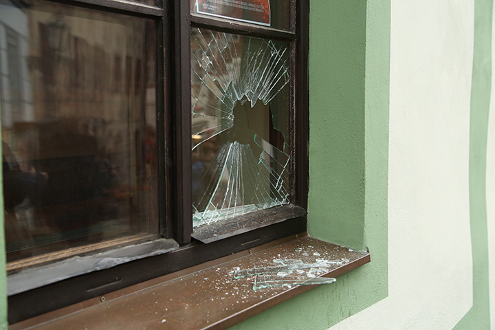A2B Glass are able to board up broken windows while they are being repaired in Hackney.